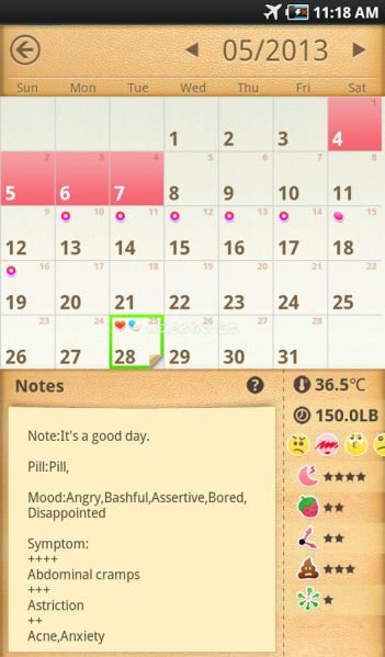 Period Calendar / Tracker İndir (Android) - Gezginler Mobil