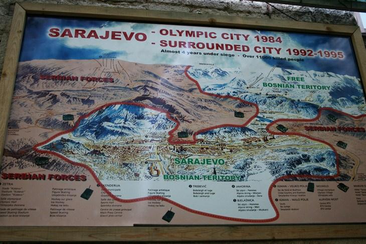 Saraybosna savaş haritası