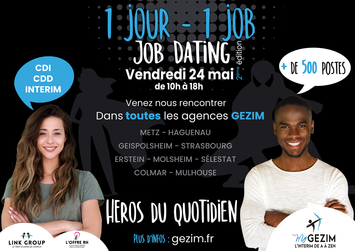 Job Dating Gezim Interim 1 jour 1 job