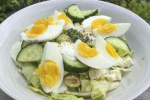 Griekse ei salade