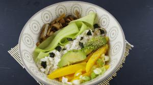 Sushibowl met Greenco gemarineerde champignons