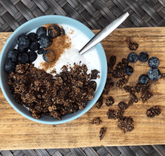chocolade granola / cruesli zelf maken