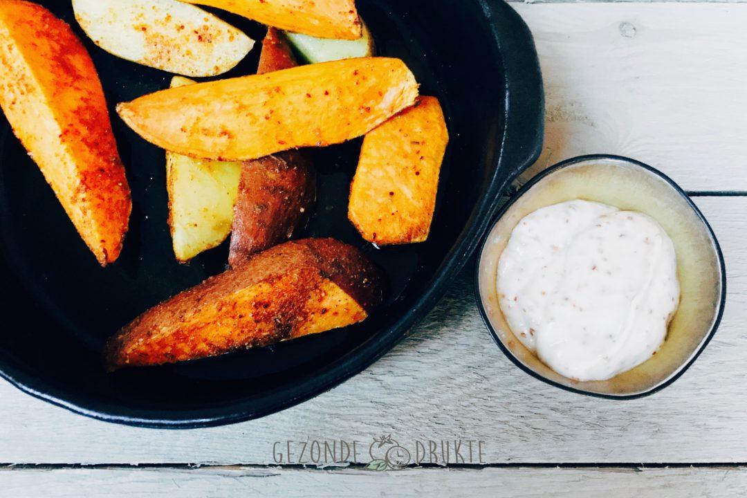 zoete-aardappel wedges