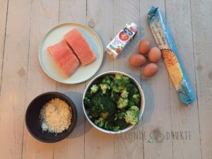 quiche broccoli en zalm