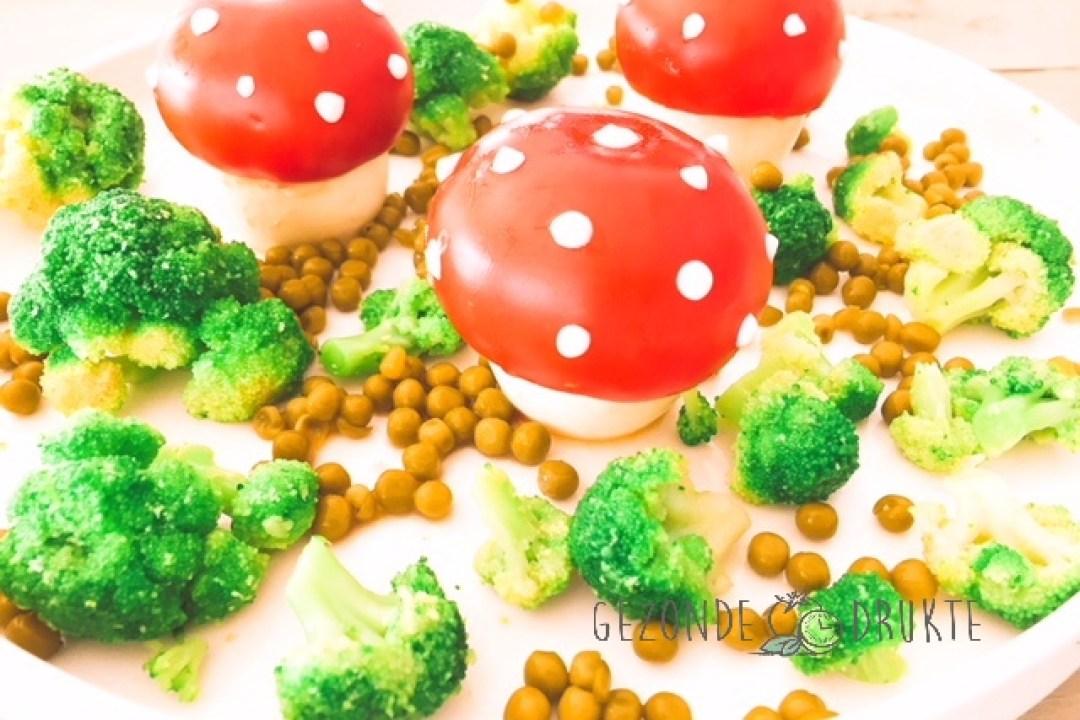 paddenstoel met witte stippen gezonde drukte