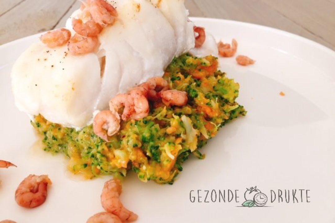 broccolipuree met vis gezonde drukte