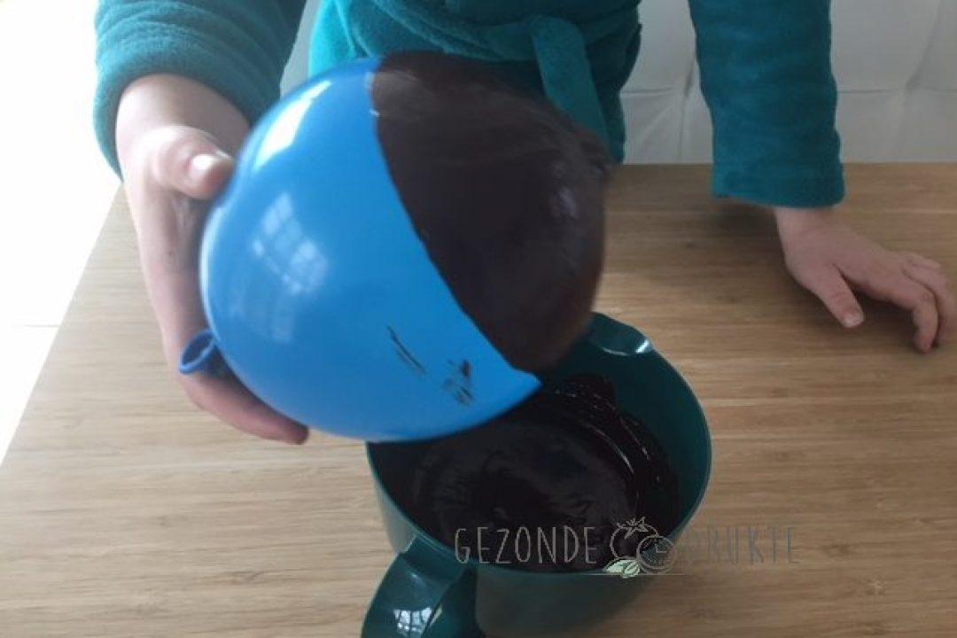 chocoladekommetje om te vullen gezonde drukte