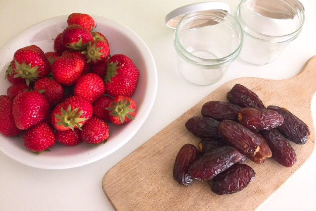 aardbeienconfituur gezonde drukte