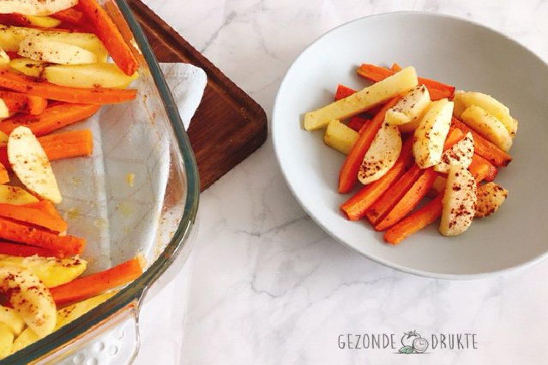 groentenstaafjes met appel_in schotel gezond Gezonde Drukte