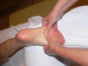 Voeten massage volgens de STER therapie