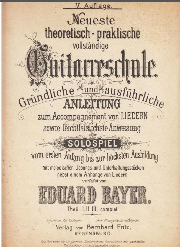 Eduard Bayer Guitarreschule - Titel