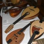 Instrumente am Stand von Christopher Schuetz