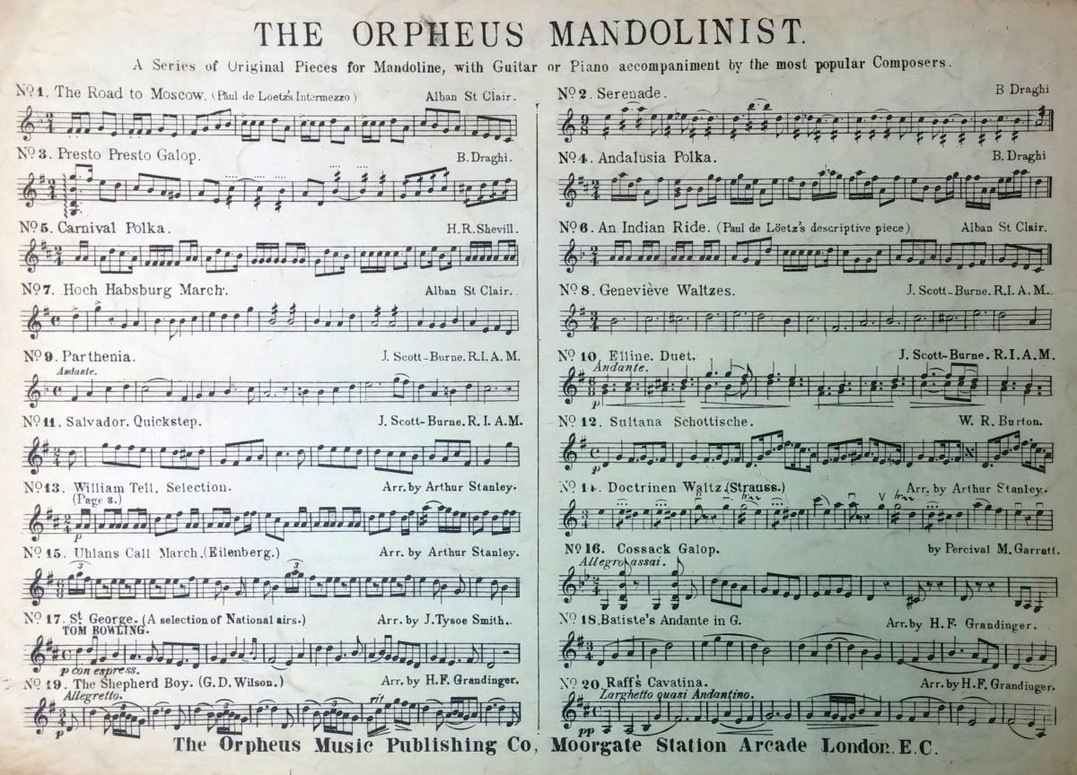 The Orpheus Mandolinist