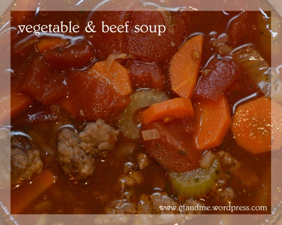 vegetable beef soup. gfandme.com