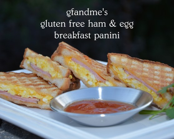 gluten free ham and egg breakfast panini