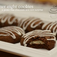 after eight cookies - gluten free just for santa