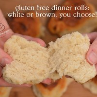 gluten free dinner rolls: whole grain or white