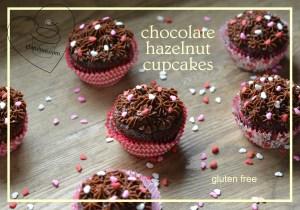 chocolate hazelnut cupcakes. gfandme.com