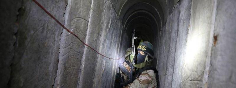 Destroyed Hamas-built tunnel from the Gaza Strip intended for attacks