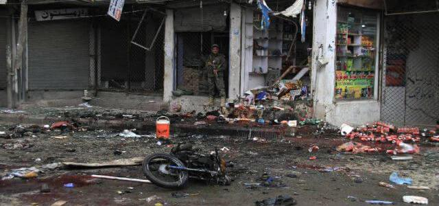 31 people dead in double ISIS suicide bomb blasts near rock restaurant and court palace
