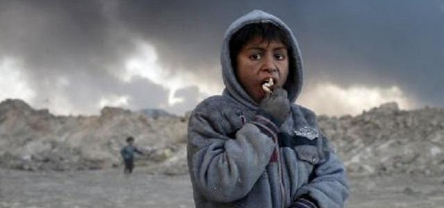 Black smoke and toxic pollutants choke children in ISIS ruled regions