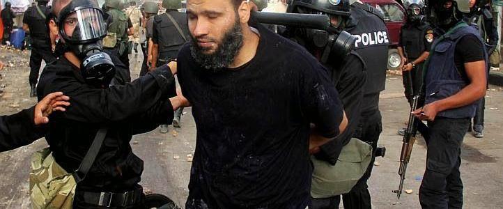 Egyptian authorities sentenced four Muslim Brotherhood members to life in jail over burning church