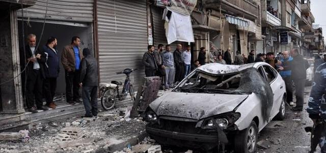 ISIS terrorist group claim responsibility for the car bomb attack near Syrian town al-Bab