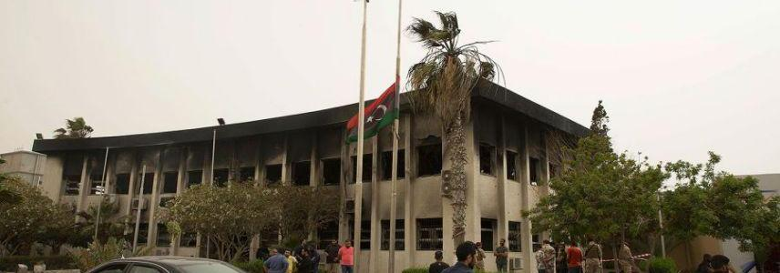 The death toll in the ISIS suicide attack on Libyan poll commission rises to 15 people