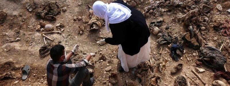 Yezidi mass graves discovered so far contain 1,646 people