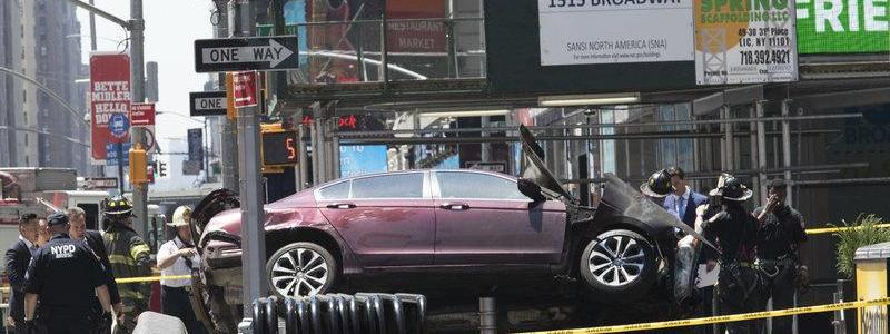 Driver who ploughed into pedestrians in Times Square is 26-year-old with two previous arrests for drunk driving