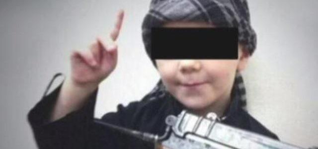Eight-year-old son of Australian ISIS terrorist wears suicide vest