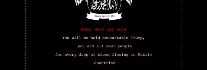 Government websites hacked to display ISIS propaganda