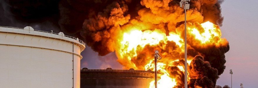 ISIS terrorists attack major oil terminal in Libya causing massive explosions and fires