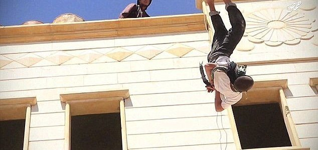 ISIS throw 15-year-old boy off a roof for being gay