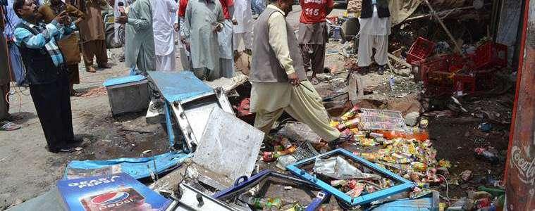 Pakistan vegetable market bombing leaves at least 16 people dead