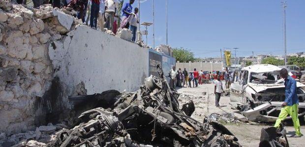 Suicide car bomb kills at least six people in Somalia's capital Mogadishu