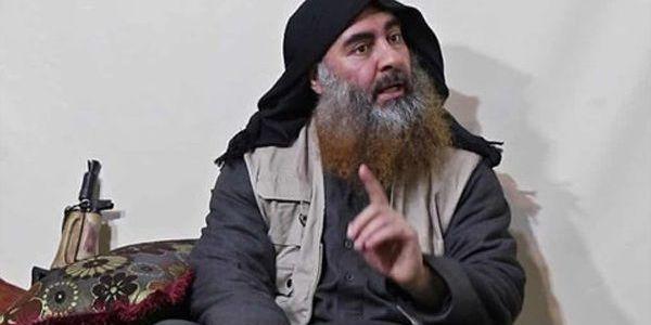 Abu Bakr Al-Baghdadi in Al-Anbar desert near border with Syria