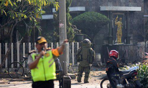 Indonesian police authorities arrested suspects linked to 2018 church bombings