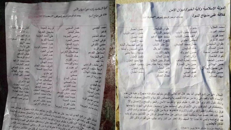 LLL - GFATF - Islamic State allegedly spreads death list for civilians working with US backed forces 1