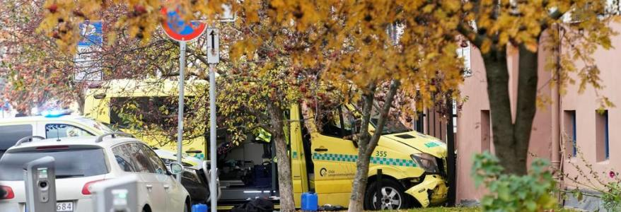 Armed man steals ambulance and hits bystanders in Norway