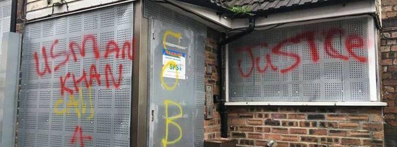 Graffiti in support of the London Bridge terrorist Usman Khan appears in hometown