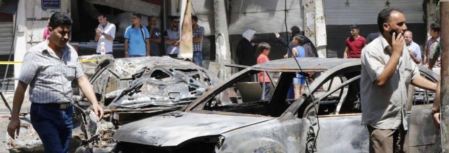 Huge blast kills five civilians including two children in the city of Raqqa