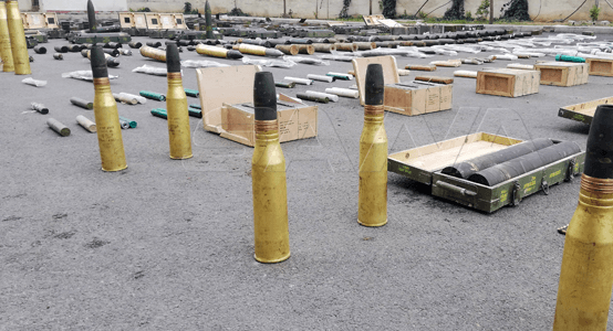 Syrian Army finds huge terrorist arms cache and at least 100 kilograms of drugs