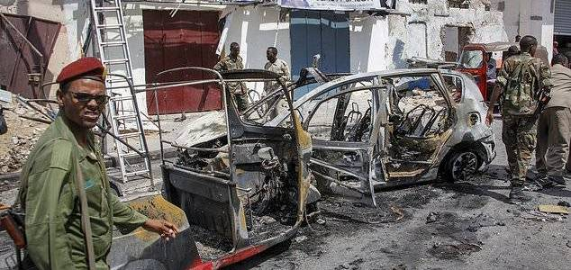 Al-Shabaab car bomb kills three and wounds six others at checkpoint in Somali capital