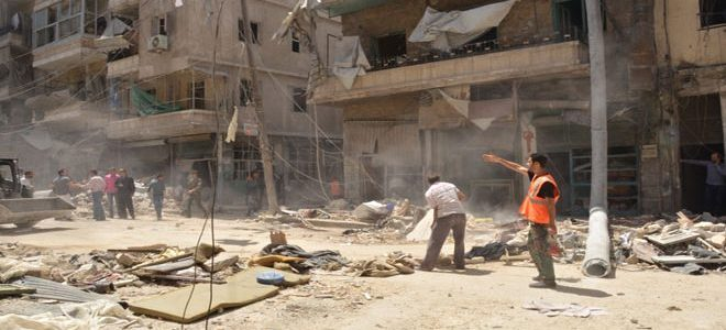 Child and two women killed and three others are injured in terrorist rocket attack on Aleppo city