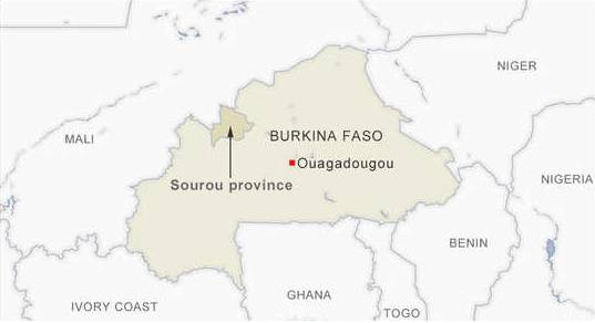 Seven children among 14 killed in roadside bomb in Burkina Faso