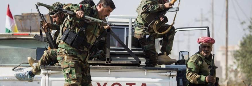 Kurdish Peshmerga carries out a security operation against the Islamic State near Tuz Khurmato