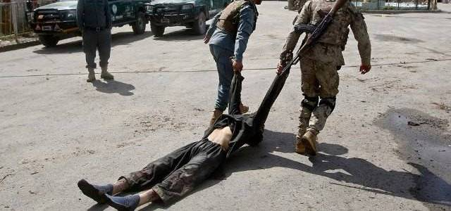 Suicide bomber killed by the Afghan police in Kandahar