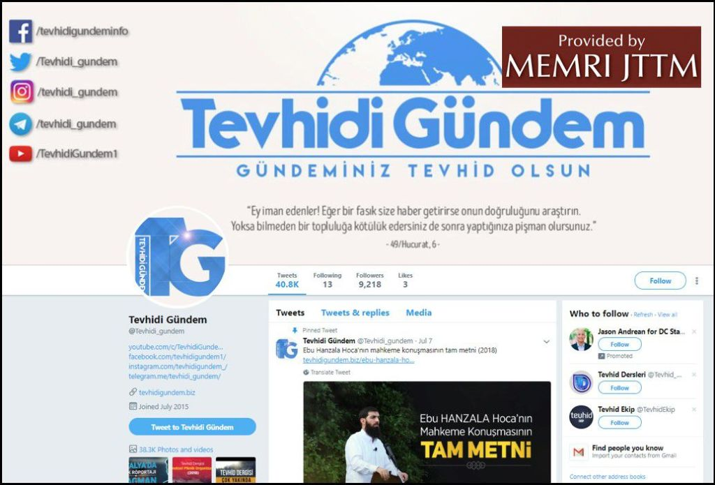 GFATF - LLL - Turkish Islamic State emir continues to operate through dozens of social media accounts 32