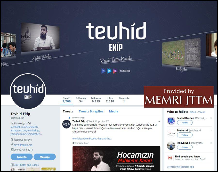 GFATF - LLL - Turkish Islamic State emir continues to operate through dozens of social media accounts 33